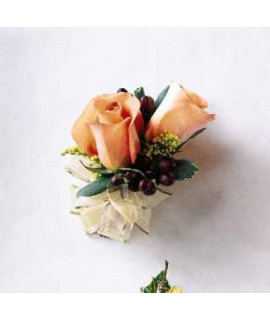 The Peach Silk Corsage