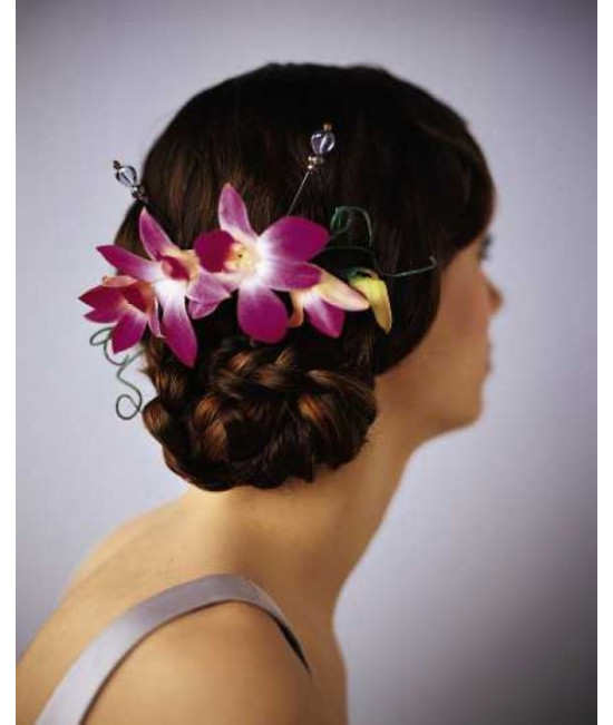 The Elegant Orchid Headpiece