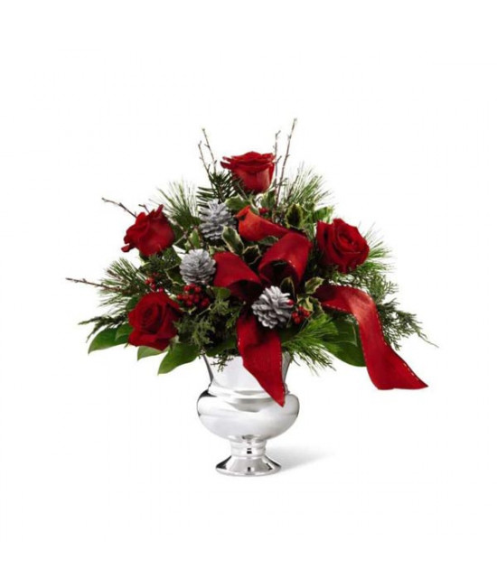 The FTD Silver Tidings Bouquet by Better Homes and Gardens