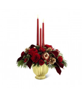 The FTD Holiday Traditions Centerpiece