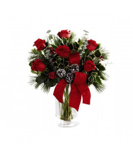 The FTD Holiday Rose Bouquet by Better Homes and Gardens