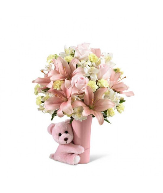 The FTD Baby Girl Big Hug Bouquet