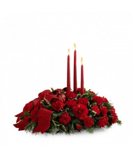 The FTD Lights of the Season Centerpiece