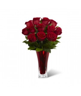The in Love with Red Roses Bouquet